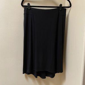 Max Studio black high/ low skirt
